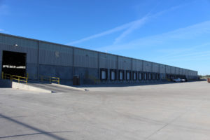 World Distribution Services (WDS) Savannah Warehouse outside receiving area with dock doors.